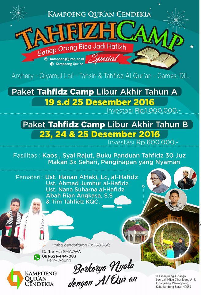 TahfizhCamp Spesial Liburan Akhir Tahun 2016
